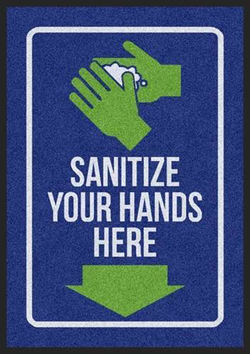 Sanitize your hands here